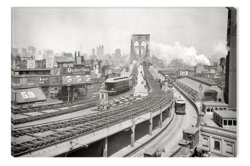 startonight-toile-imprimee-phosphorescente-image-pont-de-brooklyn-a-new-york-images-montee-sur-chass