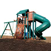 Swing N Slide Soaring Summerville Twist Wood Complete Play Set