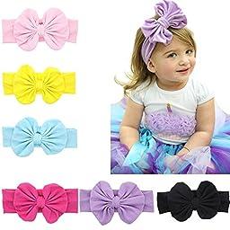 ZHW Baby Girl\'s Flower Headband Hairband Bow Big Flower (8 pack)