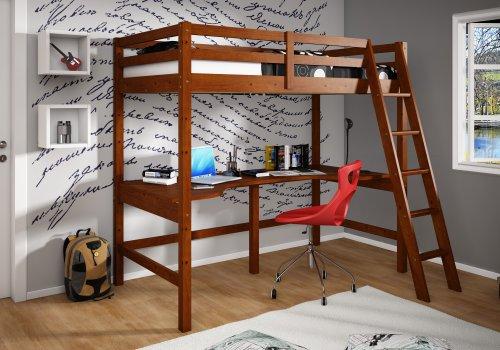 Kids Loft Beds With Desk 7674 front