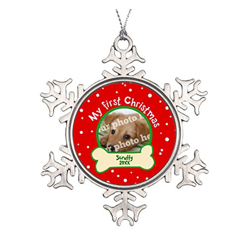 Dog My First Christmas Snowflake Ornament