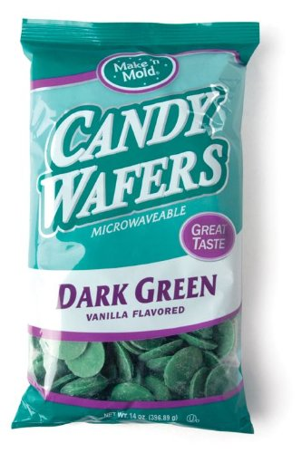 Find Discount Make 'N Mold Dark Green Vanilla Flavored Melting Wafers