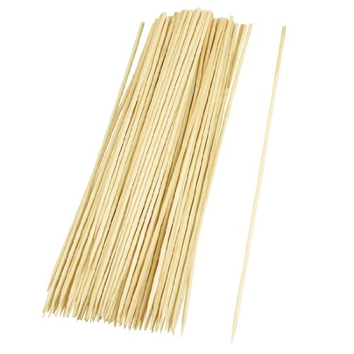 Camping Wooden Color Bamboo Bbq Skewers Barbecue Shish Kabob Sticks 95 Pcs