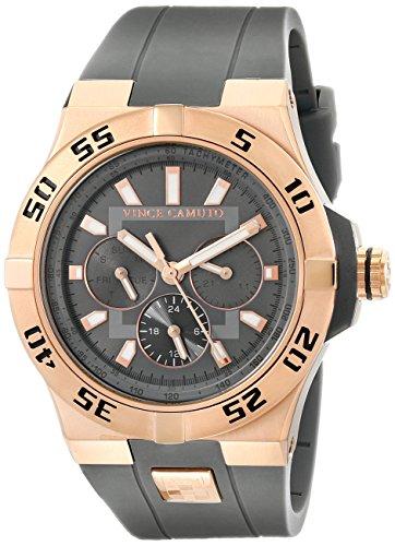 Vince Unisex Camuto The Master reloj infantil de cuarzo con esfera analógica gris y gris correa de silicona VC/1010gyrg