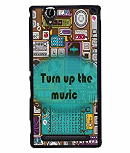 Fuson 2D Printed Music Designer back case cover for Sony Xperia T2 Ultra - D4339