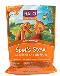 Halo Spot's Stew Natural Dry Dog Food, Puppy, Wholesome Chicken Recipe, 10-Pound Bag