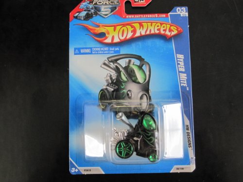 Hyper Mite (Black/silver-green)(greenpr5/micro5sp's) 2009 Hw Designs #99 - 1