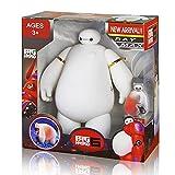Big Hero 6 Baymax Doll LED Light Vinyl Movable Hand Waist Action Figure Medical Robot