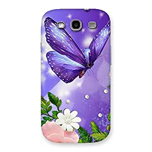 Impressive Voilate Butterfly Back Case Cover for Galaxy S3 Neo