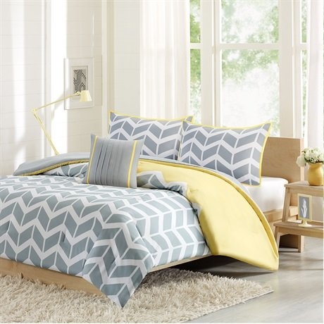 Intelligent Design Nadia Comforter And Decorative Pillow Set - Yellow - Twin/Twin XL