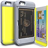 iPhone 5 Case, TORU® [Shockproof] iPhone 5S Credit Card Case [CX Pro] [Yellow] Protective Hybrid Kickstand Case with Card Slot Wallet for iPhone 5S / 5 - Yellow (115STPUSKS-YL)