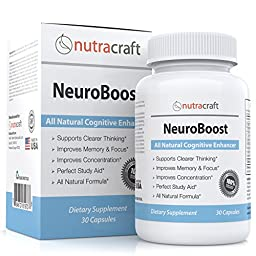 #1 Cognitive Support & Alertness Supplement - Natural Brain Enhancer for Alertness, Memory, Concentration & Focus with Ginkgo Biloba, St Johns Wort, Phosphatidylserine & Acetyl L-Carnitine - 30 Capsules