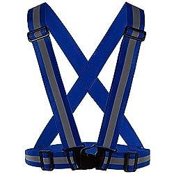 Meyerglobal Reflective Vest High Visibility Safety Adjustable Belt Regular Size Blue Regular size