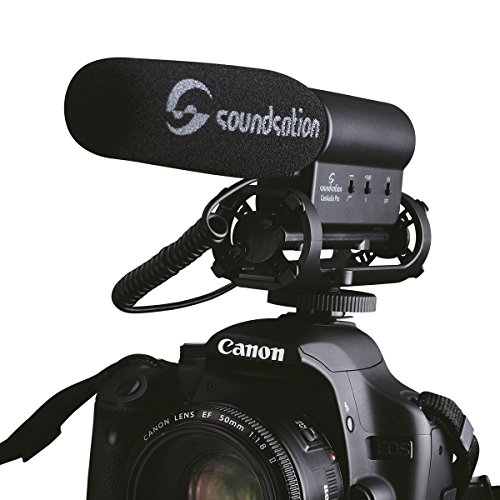 soundsation camaudio pro microphone professionnel pour appareil photo reflex num rique avec. Black Bedroom Furniture Sets. Home Design Ideas