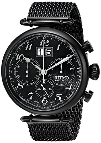 Ritmo-Mundo-Unisex-7025-Black-Corinthian-Analog-Display-Quartz-Black-Watch