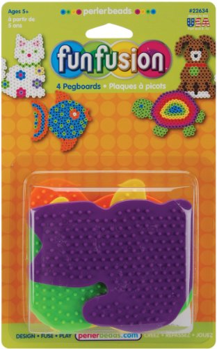 Perler Beads Small Animal Pegboards - 4 Count - 1