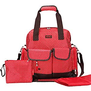 skinly small dots baby diaper bag backpack size large red baby. Black Bedroom Furniture Sets. Home Design Ideas