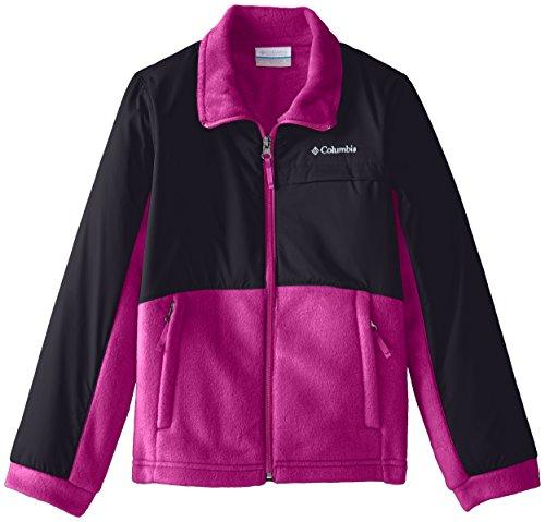 Columbia Big Girls' Benton Springs III Overlay Fleece, Groovy Pink/Black, Medium