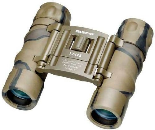 Tasco Essentials 12X25 Binocular (Brown Camo)