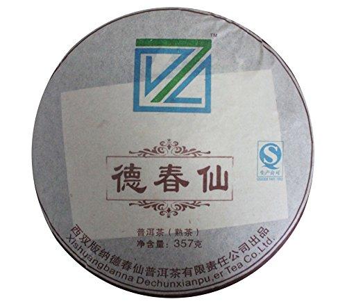 Dechunxian® Yunnan Premium 357G Pu-Erh Puer Pu Erh Dark Black Tea Diet Tea,100% Natural Organic Tea Leaves,Produced From High Mountain Ancient Tree (Fine Ripe Tea)