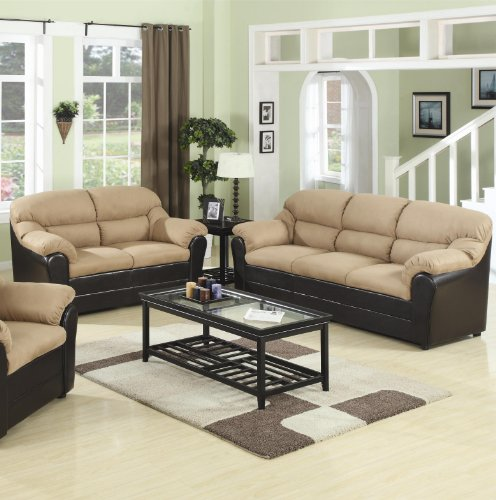 Buy Low Price AtHomeMart 2PC Casual Three-Seat Sofa and Loveseat Set (COAS501881N_501882N_2PC)
