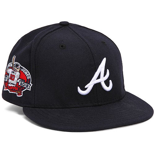 Amazon.com : Atlanta Braves Chipper Jones Career Patch 59Fifty Fitted