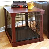 Indoor Wooden Mobile Dog Pet Cage With Crate Cover With Plastic Tray Small
