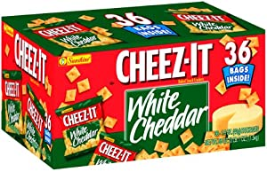 Cheez-It Crackers, White Cheddar, 36-Count Single Serve Packages