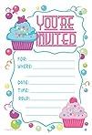 Cupcake Theme Birthday Party Invitati…