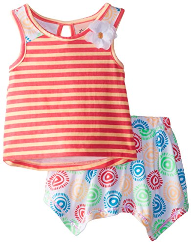 Little Lass Little Girls' Scooter Set Corsage, Coral, 3T