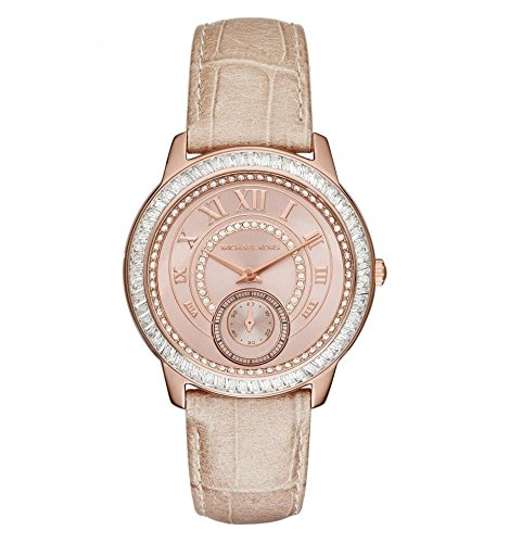 スワロフスキー 時計 Michael Kors MK2448 beige leather woman warranty only time swarovski [並行輸入品]