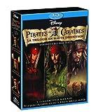 Pirates des Caraïbes - La trilogie : La malédiction du Black Pearl + Le secret du coffre maudit + Jusqu'au bout du monde [Blu-ray]
