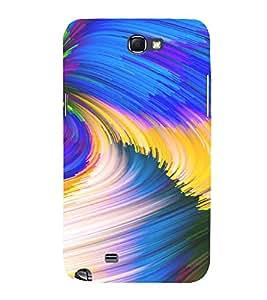 PrintVisa Modern Art Pattern 3D Hard Polycarbonate Designer Back Case Cover for Samsung Galaxy Note 2
