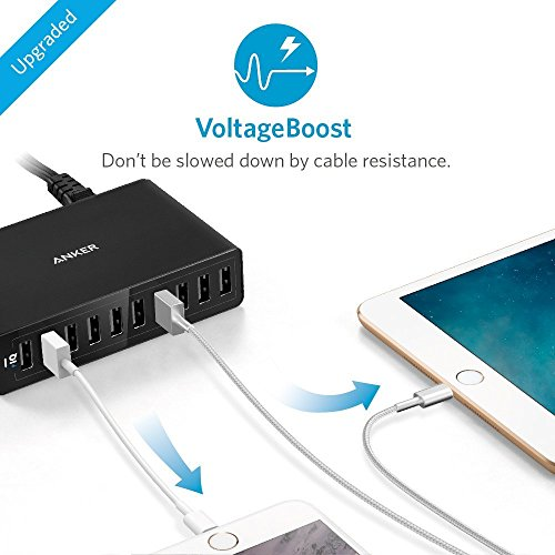 Anker-60W-10-Port-USB-Charger-Multi-Port-USB-Charger-PowerPort-10-for-Apple-iPhone-6-6-Plus-iPad-Air-2-mini-3-Samsung-Galaxy-S6-S6-Edge-and-More-Retail-Packaging-Black