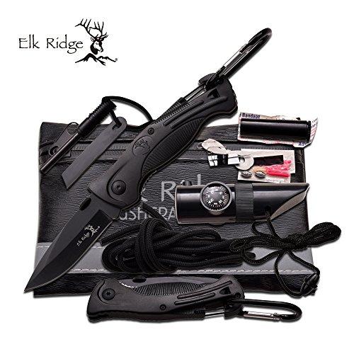 Elk Ridge Set de Survie Couteau de poche multi-Tools # ER-PK4B