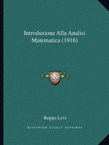 Introduzione Alla Analisi Matematica (1916)