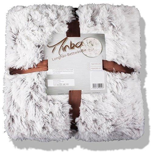 Bettwäsche Winter 155x220 Fell Optik Fleece Longhair Minka Creme