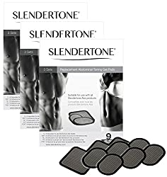 Slendertone Replacement Gel Pads for All Slendertone Abdominal Belts (Grey)