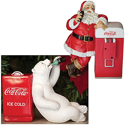 Coke Santa With Vending Machine And Polar Bear With Cooler Figures front-311168