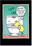 B5805 Box Set of 12 Resolution down the toilet Unique Hilarious New Year Cards with Envelopes