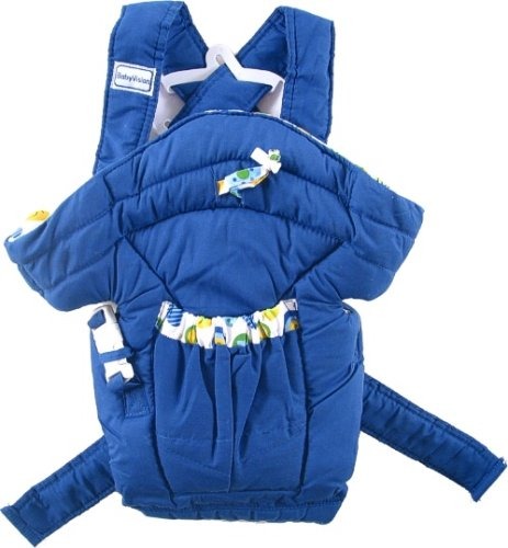 Luvable Friends Deluxe Soft Baby Carrier - Blue - baby carrier :  baby carriers