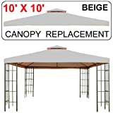 51Nly4z5BcL. SL160  10 X 10 Gazebo Replacement Canopy Top Cover   Double tier