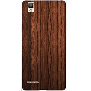 Casotec Wooden Texture Design Hard Back Case cover for Oppo F1