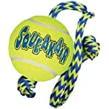 Kong Squeakair Tennis Ball with Rope, Medium