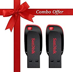 SanDisk Cruzer Blade 16GB USB 2.0 Pen Drive (Pack of 2)