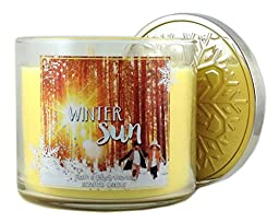 Bath & Body Works Winter Sun Scented Candle 3 Wick 14.5 Oz 2015 Collection