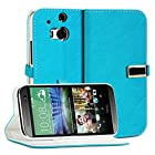 myLife Turquoise Blue and White {Textured Buckle Design} Faux Leather (Card