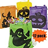 Halloween Tote Bags - 12 Per Order - Large 16 Inch -Ionic Trick Or Treat Tote Bags