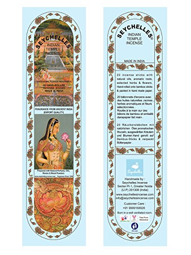 Hand-Rolled Incense Sticks- Pure Nagchampa Traditional Flower Agarbatti Pack Of 40 (60 Sticks)
