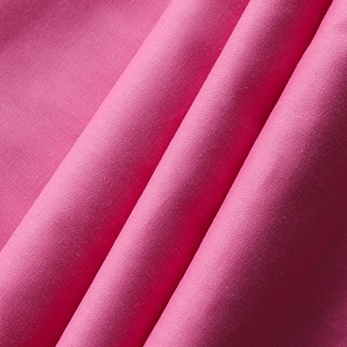 Dark Pink Kitchen Accessories: Homehug® 300 Thread-count 100% Cotton Bright Candy Color 4pc Duvet Cover Sets With Pillow Shams